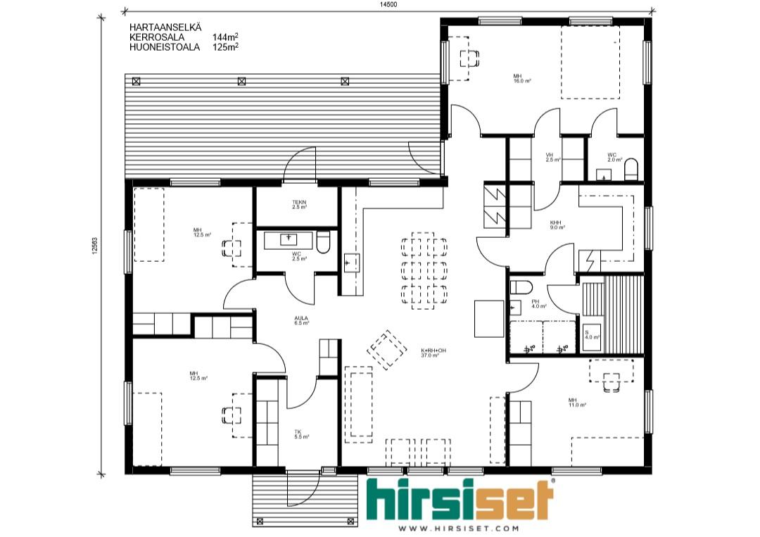 Hirsiset Oulujoki-sarja Hartaanselkä 144/125
