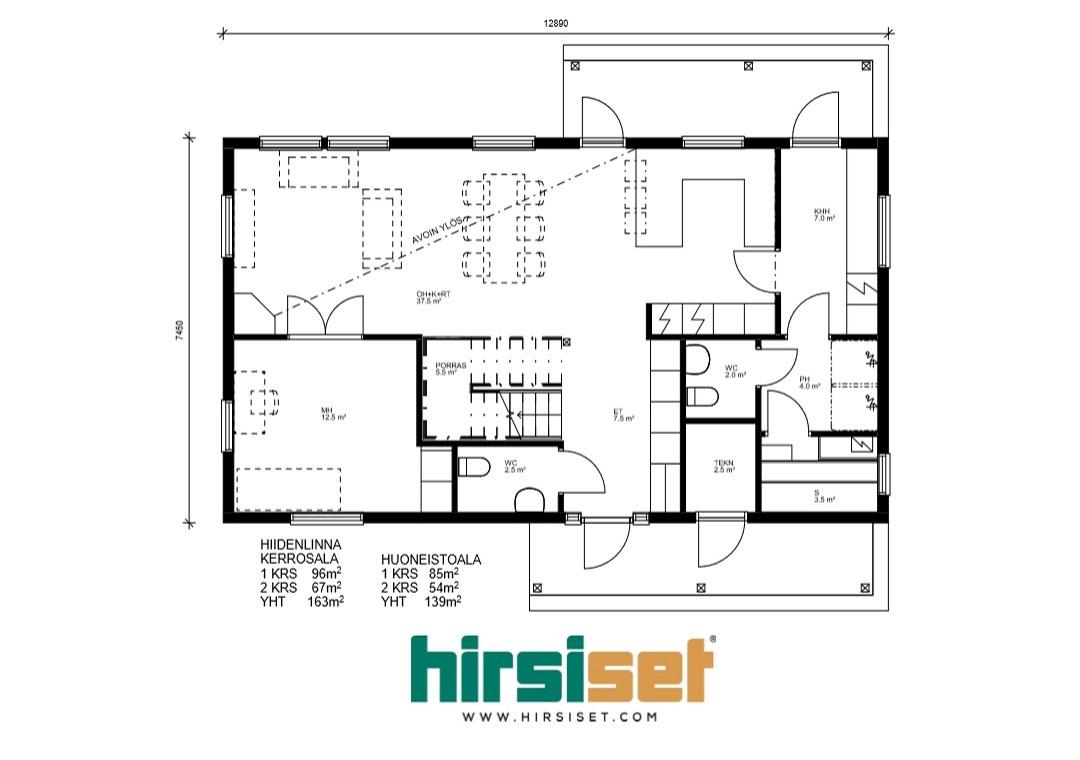 Hirsiset Oulujoki-sarja Hiidenlinna 163/139