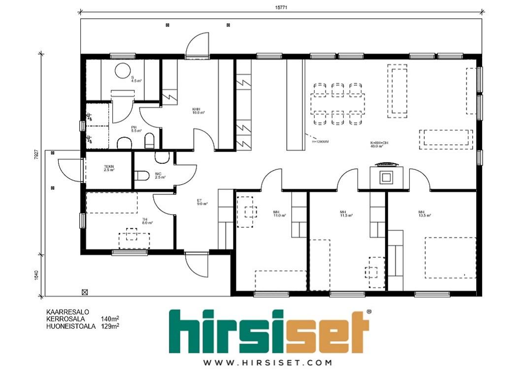 Hirsiset Oulujoki-sarja Kaarresalo 140/129