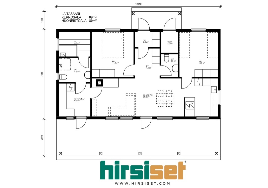 Hirsiset Oulujoki-sarja Laitasaari 89/80