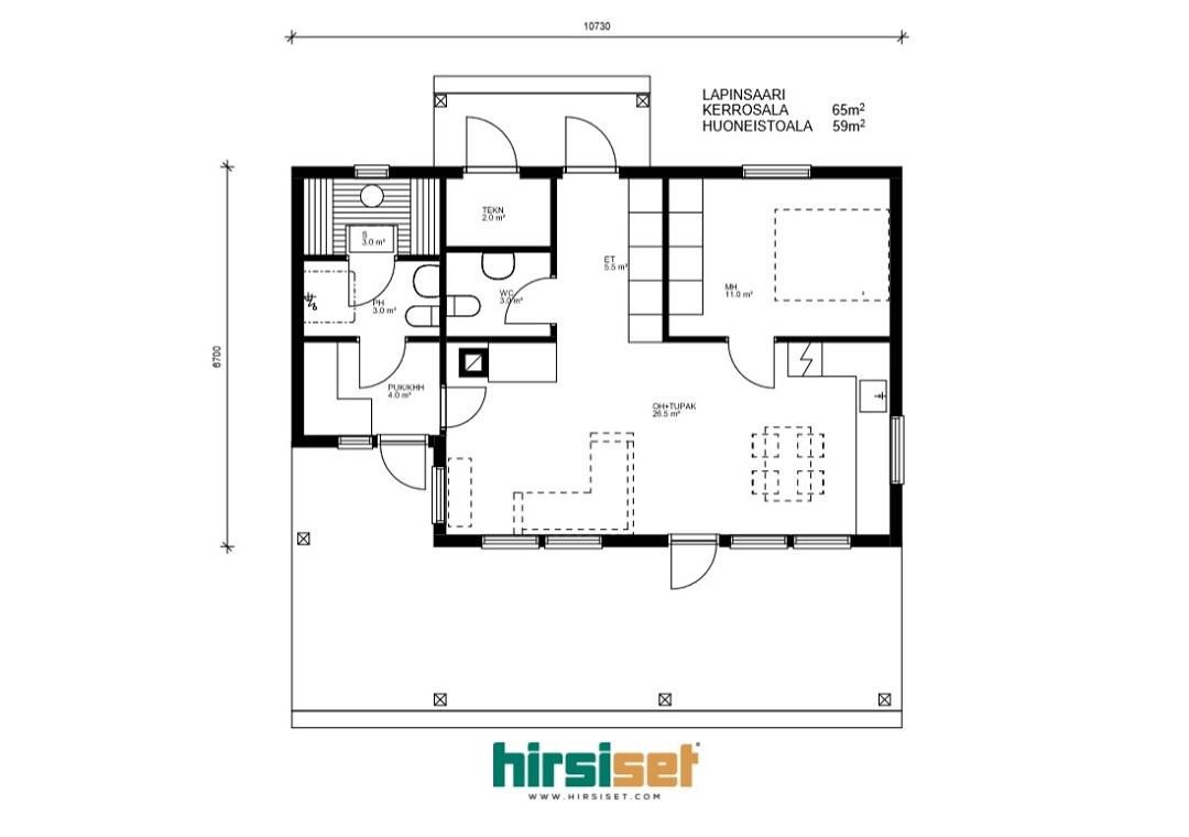 Hirsiset Oulujoki-sarja Lapinsaari 65/59