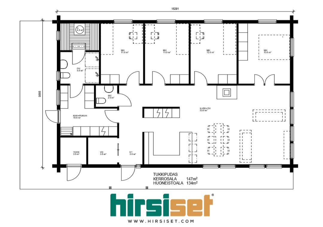 Hirsiset Oulujoki-sarja Tukkipudas 147/134