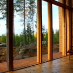 Log House Villa Valtanen window view