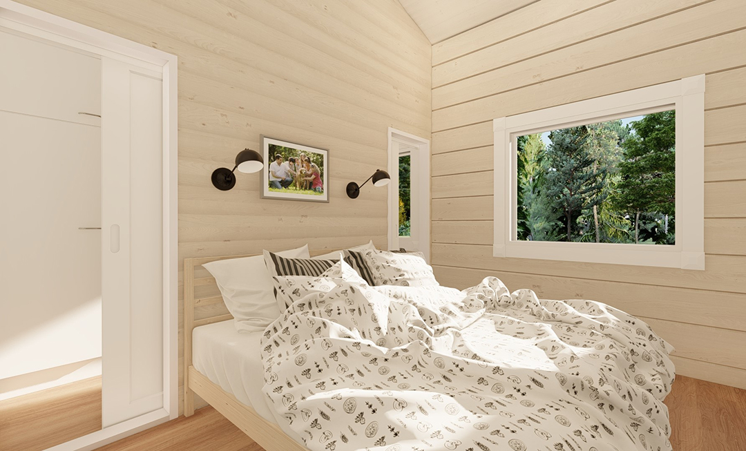 ihana hirsitalon makuuhuone