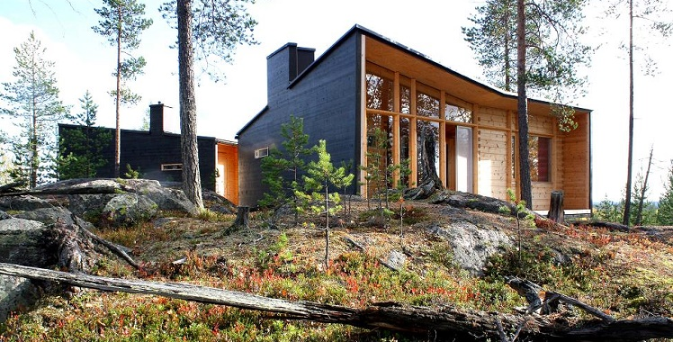 individually designed log house